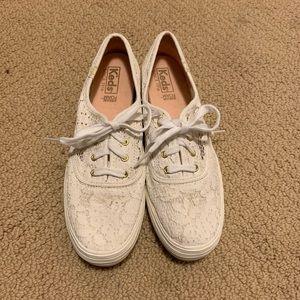 Keds - white lace platforms